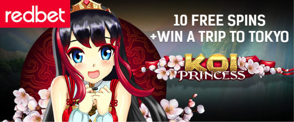 redbet free spins no deposit on koi princess