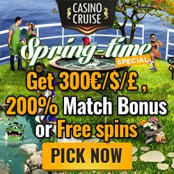 CasinoCruise march spring no deposit bonus codes