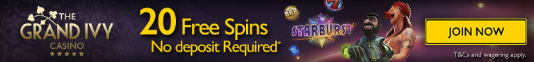The Grand Ivy Casino free spins no deposit