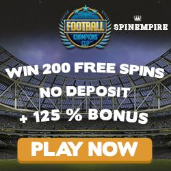 spinempire no deposit bonus codes football