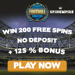 spinempire no deposit bonus codes football
