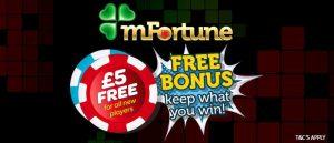 mfortune no deposit mobile casino