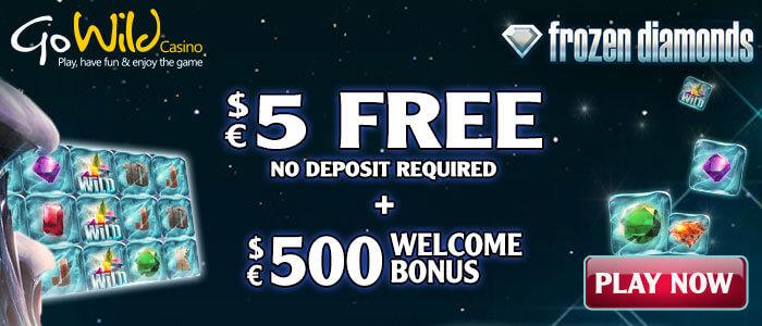 gowild frozen diamonds free pokie no deposit