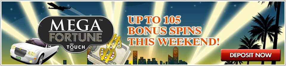 mega fortune touch free spins