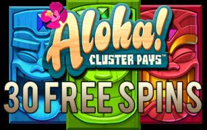 nederbet casino aloha cluster pays free spins no deposit