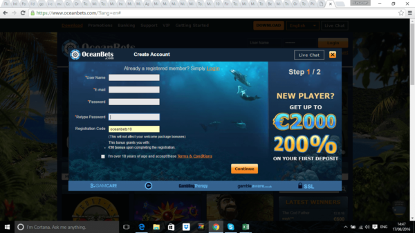 free online casino bonus codes no deposit lord of the ocean