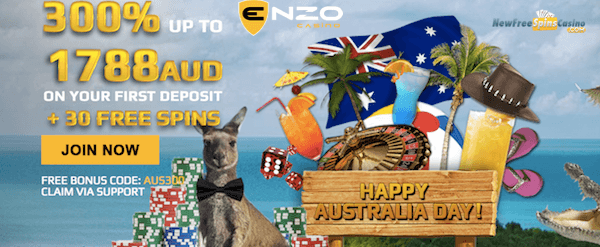 Enzo Casino Australian Day Promotions