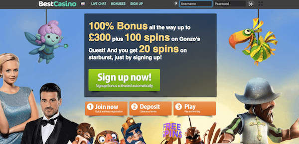 bestcasino no deposit free spins gratis