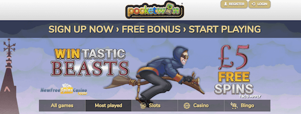 pocketwin casino exclusive bonus no deposit