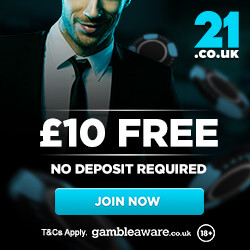 21 casino uk no deposit bonus codes