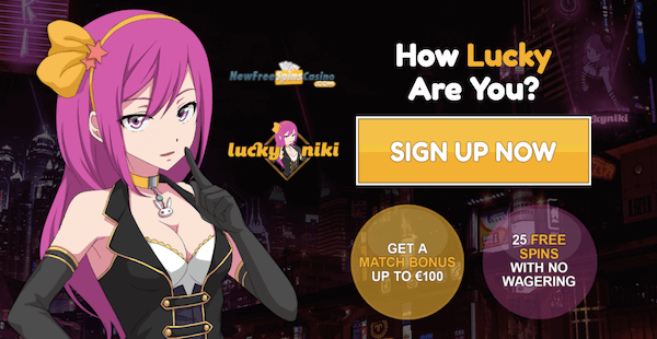 luckyniki casino wager free spins