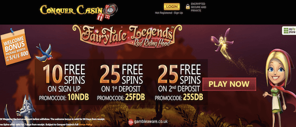 conquer casino exclusive no deposit bonus on fairytale legends