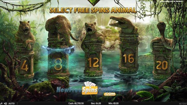 jungle spirit netent slots wild feature
