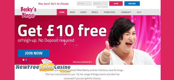 beckys bingo no deposit bonus