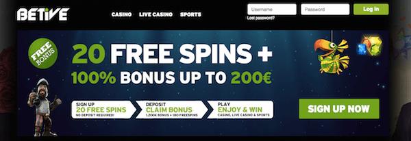 betive casino no deposit bonus