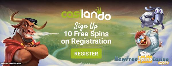 casilando no deposit free spins bonus