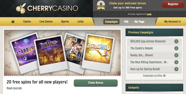 cherry casino mobile casino no deposit bonus