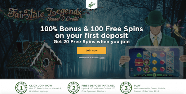 fairytale legends hansel and gretel exclusive no deposit free spins