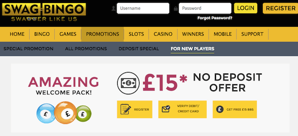 swag bingo room bonus no deposit