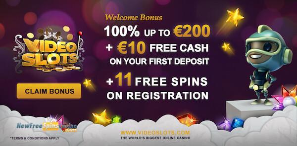 videoslots casino bonus no deposit
