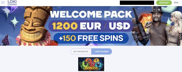 loki casino exclusive no deposit bonus