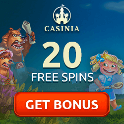 Casinia Casino free spins no deposit