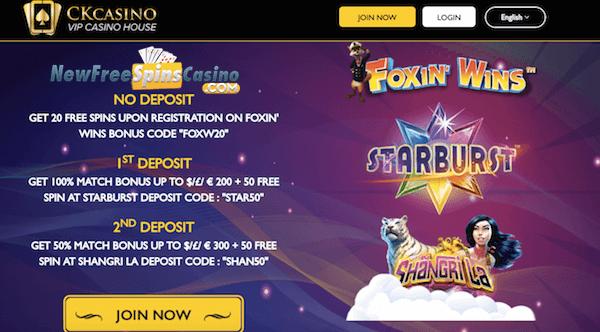 ck casino no deposit bonus