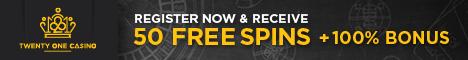 twentyonecasino free spins gratis