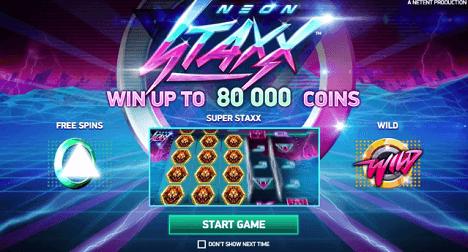 neon staxx new netent slots