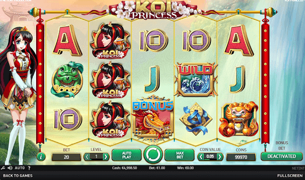 Koi Princess Netent slot Premiere full list free spins!