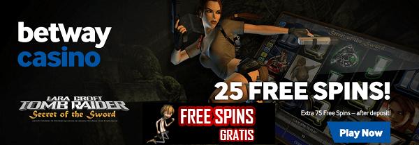 tomb raider 25 free spins no deposit