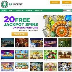 Sir Jackpot Casino No Deposit Free Spins On Mega Fortune Jackpot