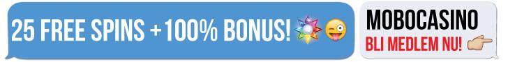 MoboCasino free spins no deposit