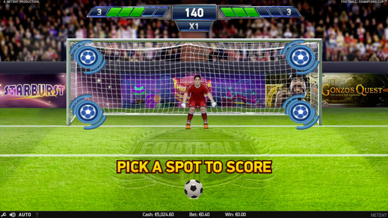 football champions cup free spins penalty shoot