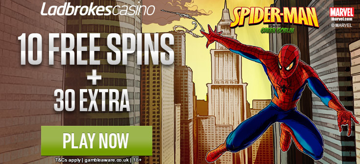 ladbrokes spiderman free spins no deposit