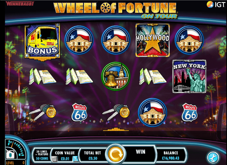 whell of fortune on tour free spins no deposit