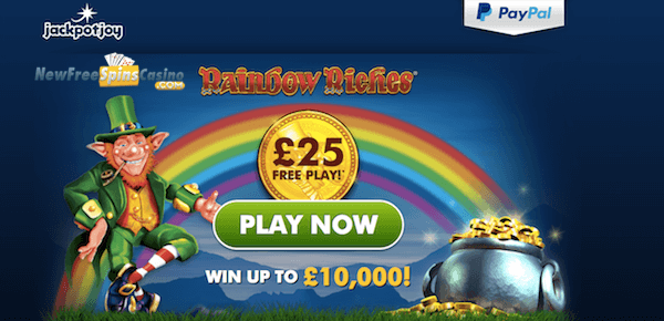 rainbow riches free spins no deposit on Jackpotjoy