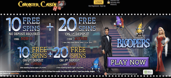 conquercasino-free-spins-no-deposit-on-bloopers