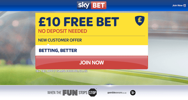 Free Bet No Deposit Required