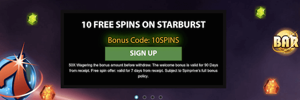 spinprive casino no deposit bonus