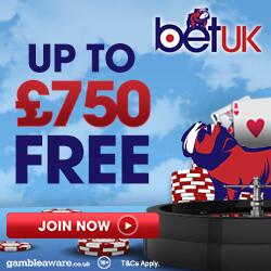 BetUK Casino no deposit bonus codes