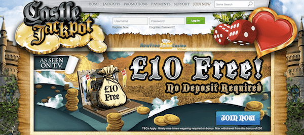 castle jackpot exclusive no deposit free cash