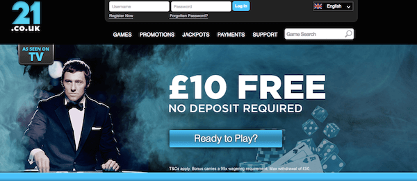 21 casino uk bonus free cash no deposit