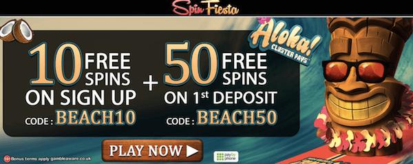 spin fiesta casino exclusive free spins no deposit bonus