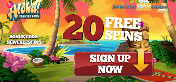 Aloha Cluster Pays Free Spins No Deposit Needed on VoodooDreams Casino