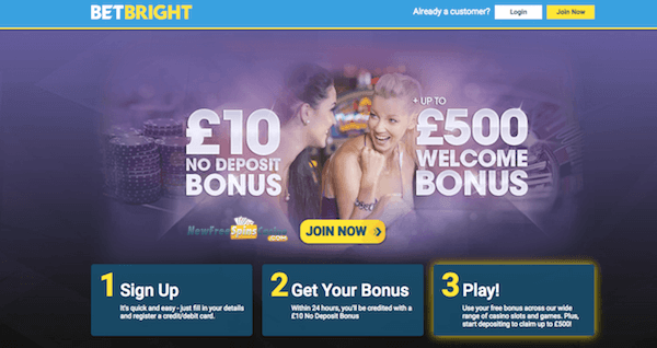 betbright casino no deposit bonus