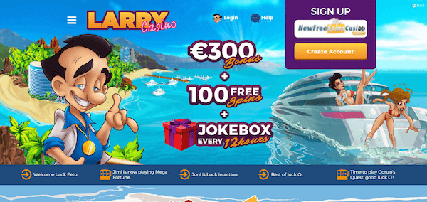 larrycasino free spins no deposit