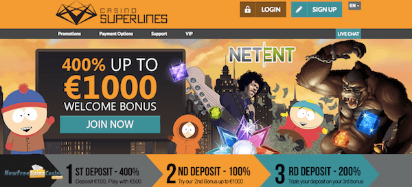 Casino superlines netent casino bonus