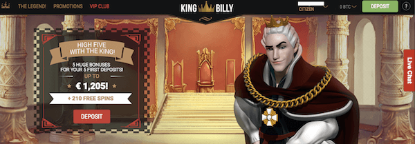 king billy casino no deposit bitcoin bonus