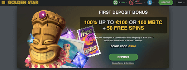 golden star no deposit bonus exclusive
